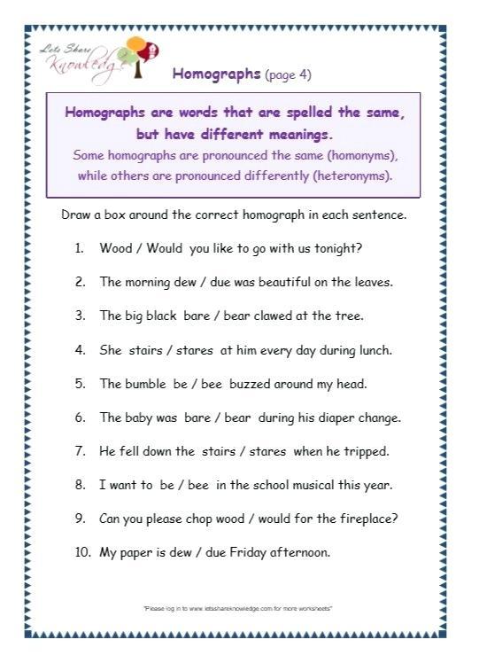 Grade 4 Grammar Worksheets English For 7 Online – Myfirewall Info