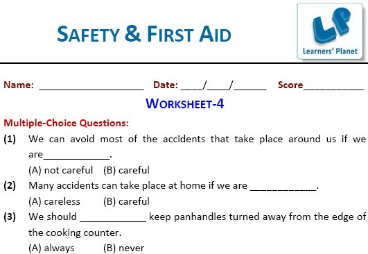 Safety And First Aid Worksheets For Fourth Graders