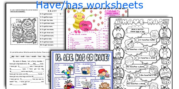 Have Has Worksheets