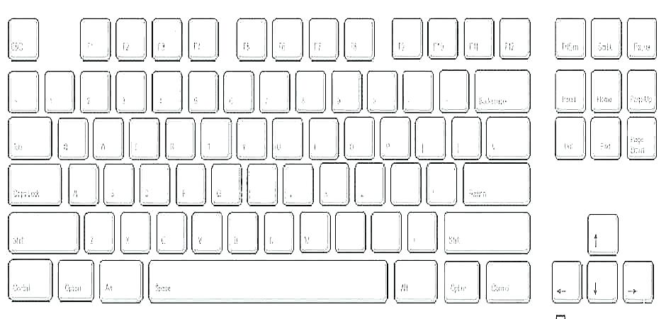Kindergarten Computer Worksheets Blank Typing Keyboard Worksheet