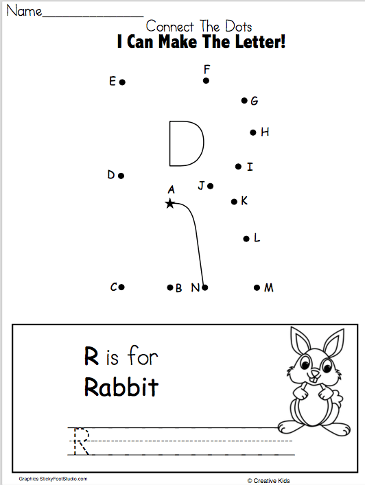 Letter R Writing Worksheet And Dot To Dot