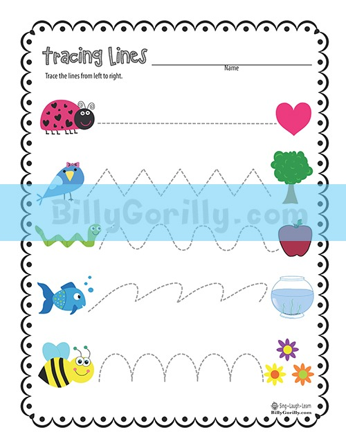 Friday Freebie – Tracing Lines Worksheet Printable