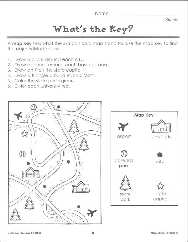 Map Worksheets Directions North South East West Worksheets Doodle
