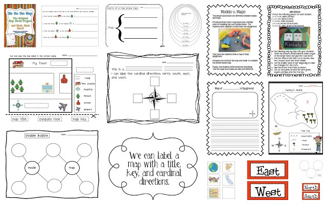 Cardinal Directions Worksheet 3rd Grade