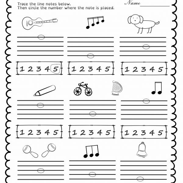 Music Worksheets Pack (line