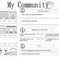 My Community Worksheets For Kids