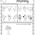 Rhyming Worksheets Kindergarten
