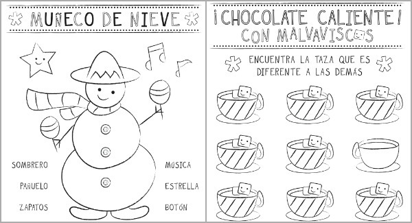 Christmas Activity Sheets In Spanish {printable}