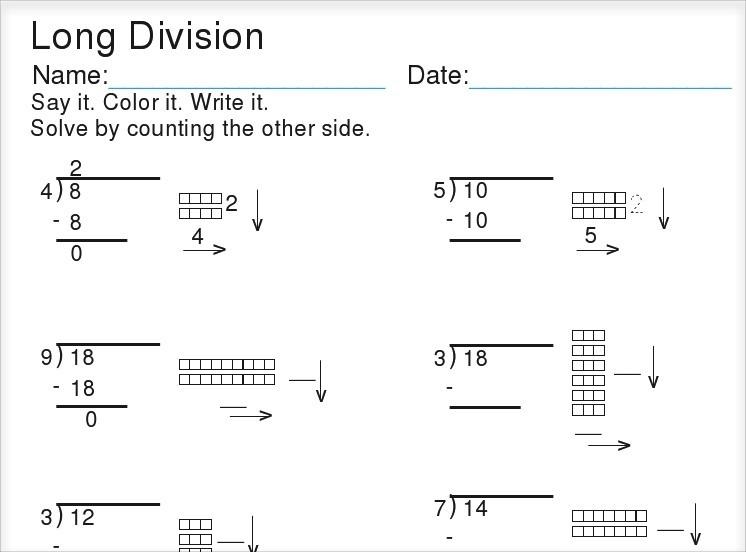 Crewton Ramone's Blog Of Math  Base Ten Block Division Worksheets
