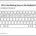 Keyboard Worksheets For Kindergarten