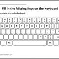 Keyboard Worksheets For Kindergarten