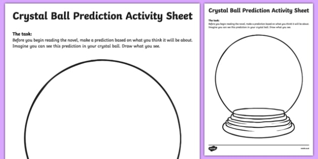 Crystal Ball Prediction Worksheet   Worksheet Pack