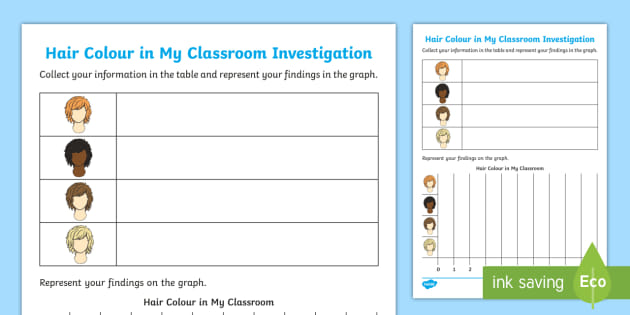 Hair Colour In My Classroom Worksheet