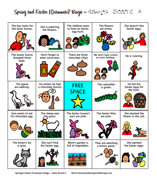 Free Spring And Easter Speech Therapy Materials!