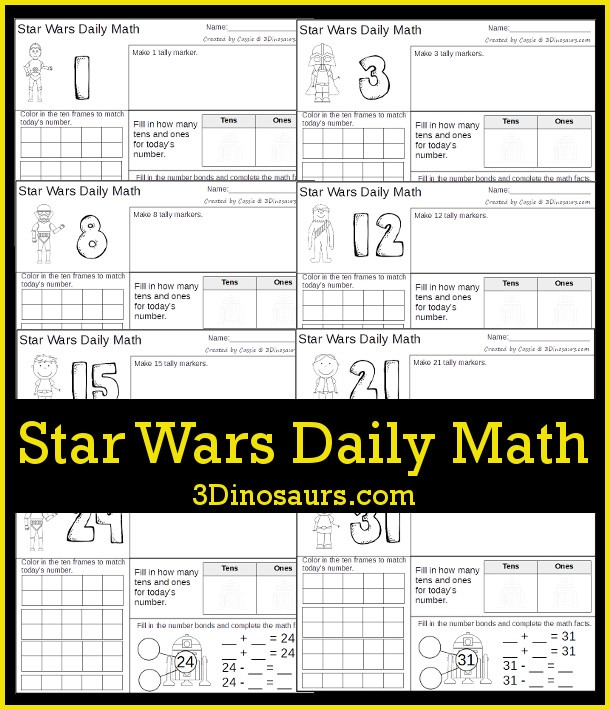 Star Wars Themed Daily Math
