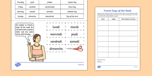 Ks2 French Worksheet