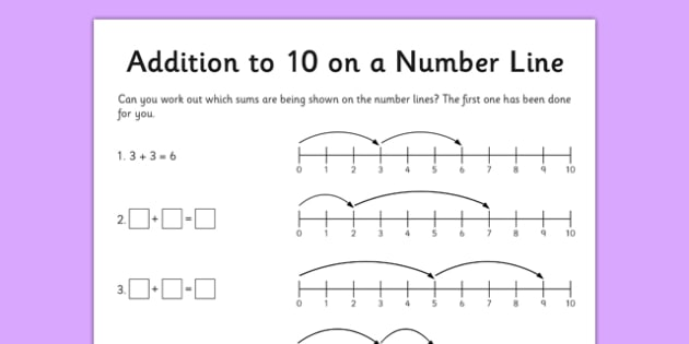 Addition To 10 Worksheet