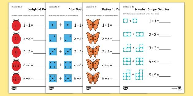 Doubles To 20 Worksheets