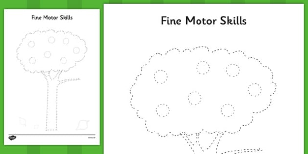 Tree Fine Motor Skills Worksheet   Worksheet Pack