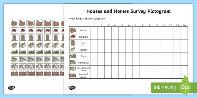 Houses And Homes Pictograms Type Of House Worksheet