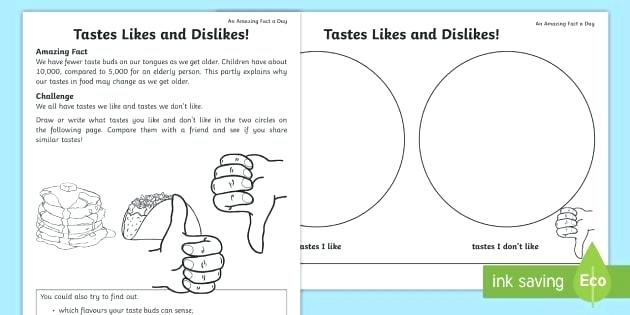 Like Dislike Worksheets – Odmartlifestyle Com