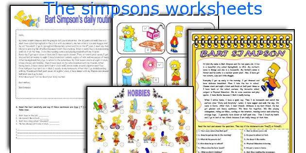 The Simpsons Worksheets