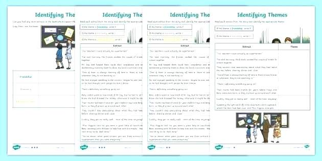 Theme Worksheets Pdf