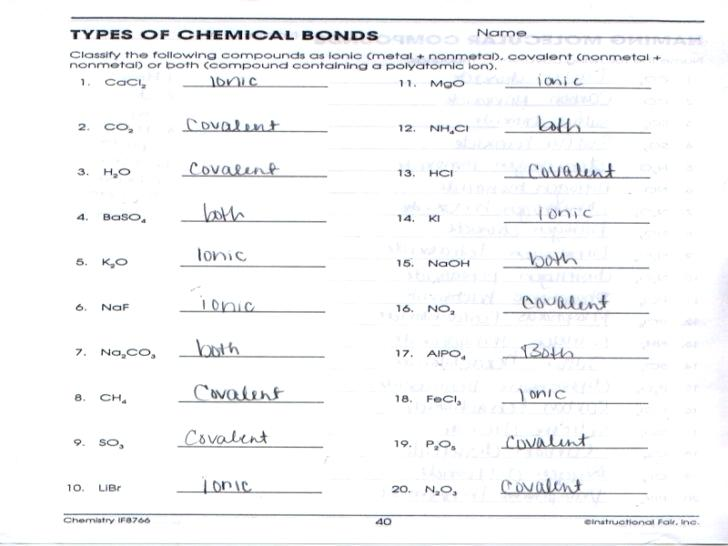 Chemistry Worksheets And Answers – Odmartlifestyle Com