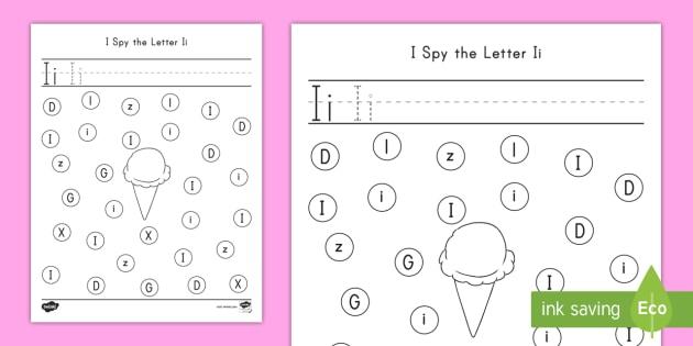 I Spy The Letter Ii Worksheet