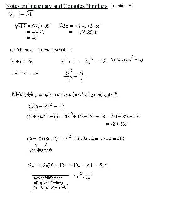 Worksheet On Complex Numbers – Peacer Org